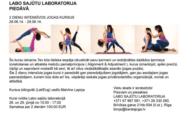 Divu dienu jogas apmācības - kursi!