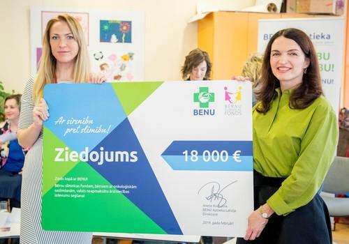 Bērnu onkoloģijas ārstniecībai ziedo 18 000 EUR