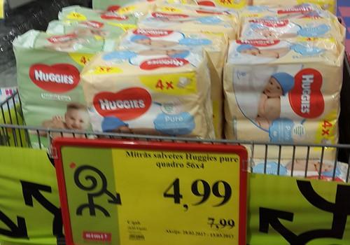 """Mitrās salvetes """"Huggies"""": pērc vairāk, maksā mazāk"""