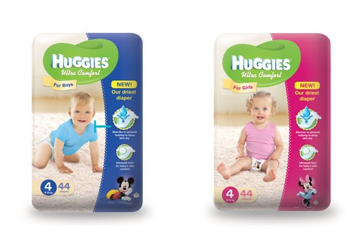 Uzlabotas Huggies® Ultra Comfort zēniem un meitenēm!