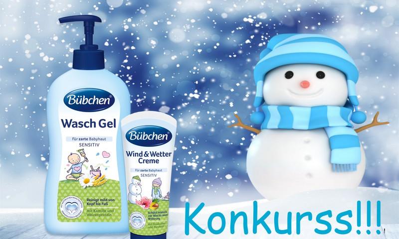 Sniegoto bilžu konkurss: piedalies un laimē balvu no Bübchen!