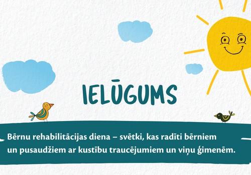 9. septembrī atzīmēs Bērnu rehabilitācijas dienu