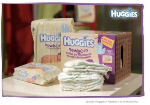 Huggies® Newborn autiņbiksītes laimējusi..