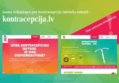 Ieskaties jaunajā mājaslapā Kontracepcija.lv!