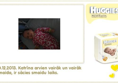 Katrīna aug kopā ar Huggies® Newborn: 43.dzīves diena