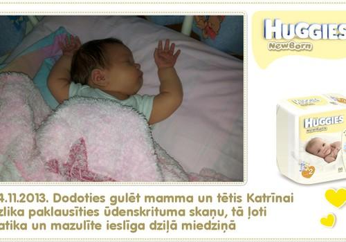 Katrīna aug kopā ar Huggies® Newborn: 27.dzīves diena