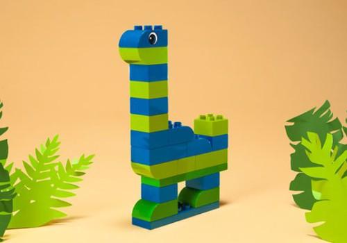Kā uzbūvēt dinozauru ar LEGO Duplo