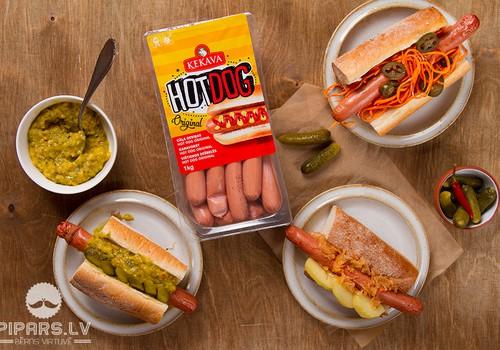 """""""Ķekava"""" piedāvā pareizos cīsiņus Hot-Dog pagatavošanai"""