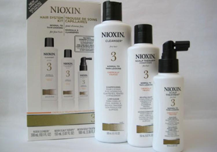 Pēc 3 nedēļu Nioxin matu kopšanas līdzekļu lietošanas