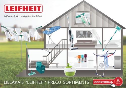 Māmiņu Kluba festivālā izmēģini LEIFHEIT – kvalitatīvas preces Tavam mājoklim!