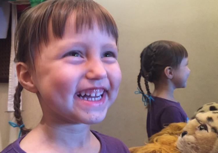 Bērnudārznieces matu sakārtojums