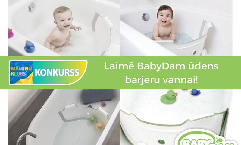 Facebook KONKURSS: Laimē BabyDam ūdens barjeru vannai!