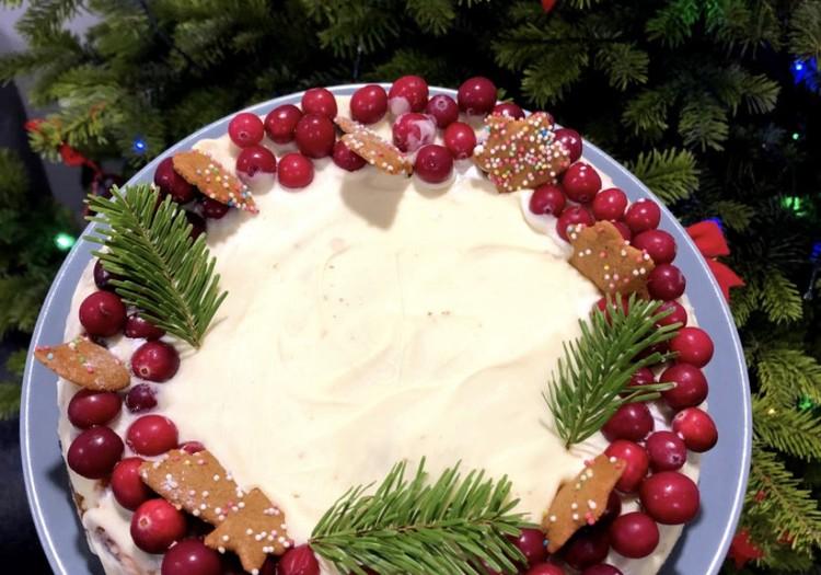 Piparkūku un baltās šokolādes siera kūka!