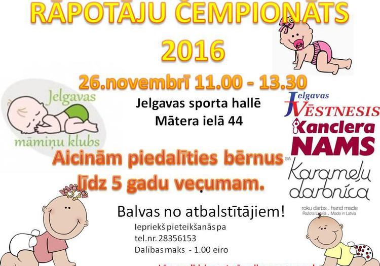 """Būs atkal """" Rāpotāju čempionāts 2016"""" Jelgavā!!!"""