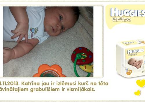 Katrīna aug kopā ar Huggies® Newborn: 34.dzīves diena