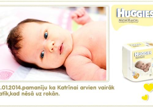 Katrīna aug kopā ar Huggies® Newborn: 77.dzīves diena