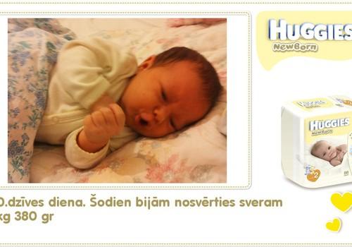 Katrīna aug kopā ar Huggies® Newborn: 50.dzīves diena