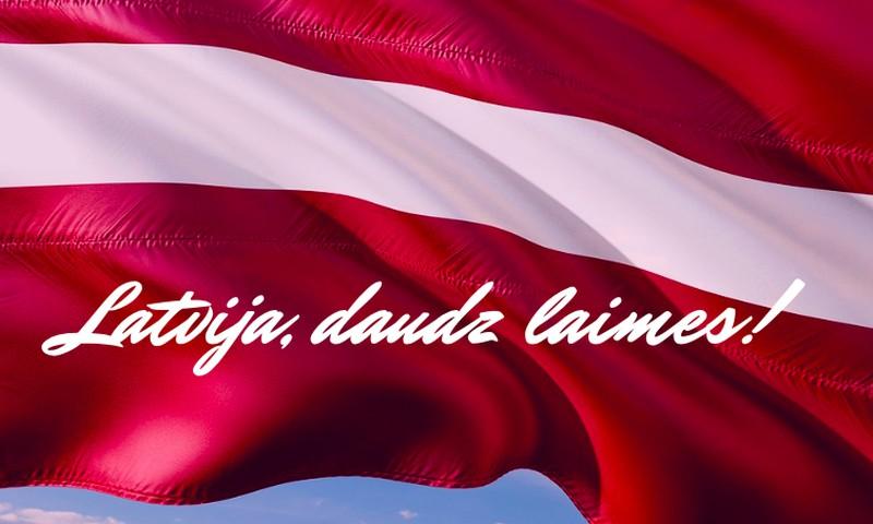 Sveicam Latviju dzimšanas dienā!