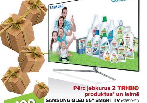 Tri Bio loterija: piedalies un laimē Samsung SMART TV