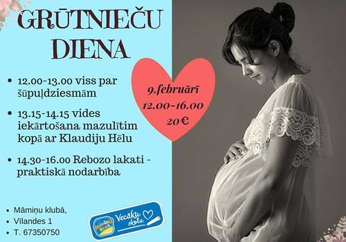 Nāc uz GRŪTNIEČU dienu Māmiņu Klubā - 9.februārī+ PRAKTISKA nodarbība