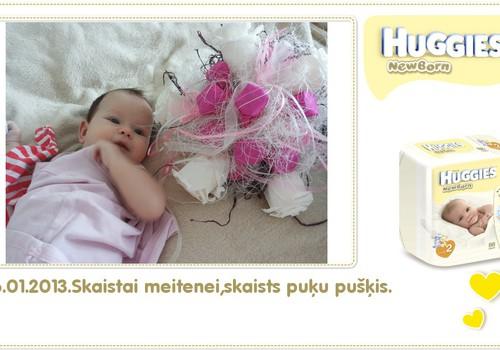 Katrīna aug kopā ar Huggies® Newborn: 82.dzīves diena