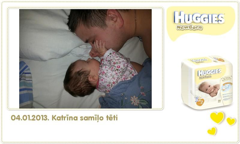 Katrīna aug kopā ar Huggies® Newborn: 68.dzīves diena