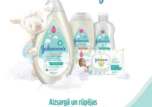 Izlozēti Johnson's Baby produktu komplektu laimētāji