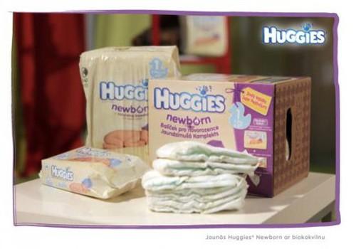 Paņem līdzi uz dzemdībām Huggies® Starter Kit!