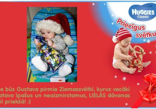 Gustava pirmā Ziemassvētku paciņa!
