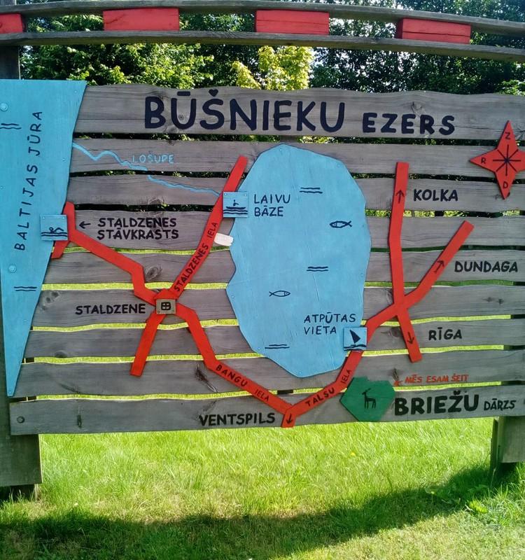 Ventspils briežu dārzs un Bušnieku ezers