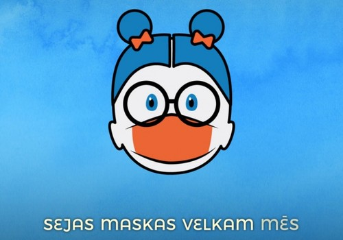 Ar dzīvespriecīgu animāciju aicina pārrunāt masku nēsāšanu visai ģimenei