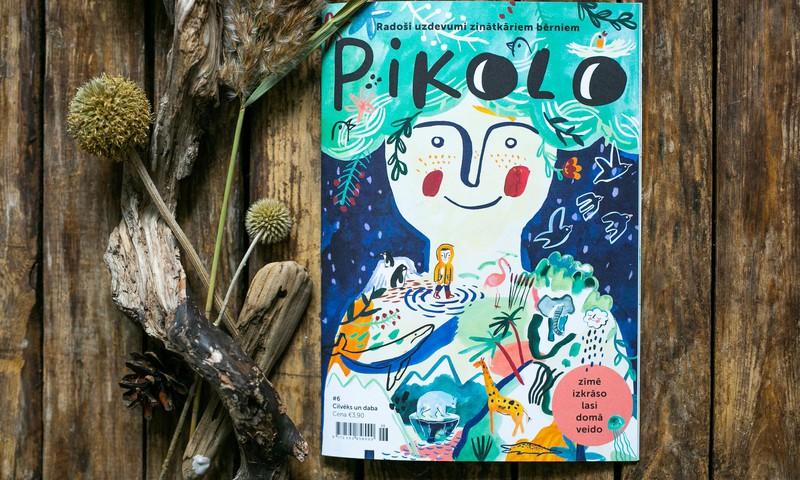 Latvijas ilustratoru un autoru komanda izdevusi sesto Pikolo žurnālu bērniem, kas vēsta par cilvēku un dabas mijiedarbību