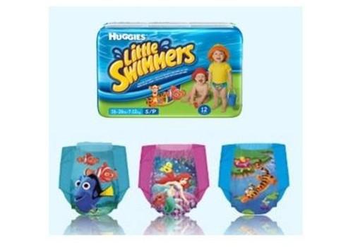 Dodamies peldēt ar Huggies ® Little Swimmers® autiņbiksītēm!l