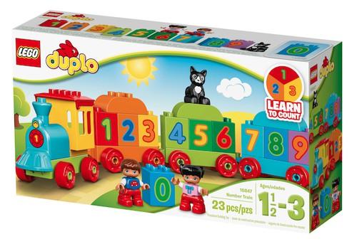 Laimē LEGO® DUPLO® Ciparu vilciena komplektu!