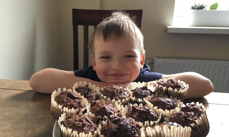 Gatavo kopā ar bērniem: Šokolādes mafini