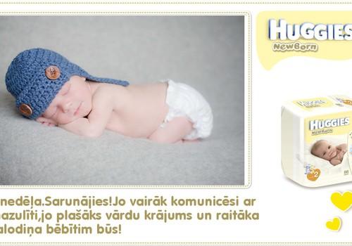 Devītā dzīves nedēļa kopā ar Huggies® Newborn!
