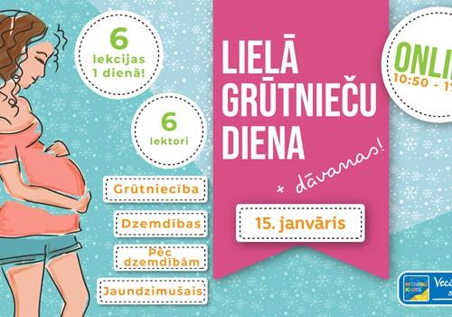 Lielā Grūtnieču diena 15.janvārī: 6 lekcijas par 1 lekcijas cenu + dāvanas VISĀM dalībniecēm!