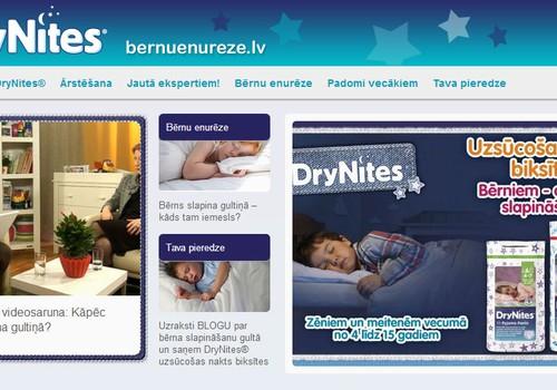 Atbalsts vecākiem, kuru bērni slapina gultiņā: www.bernuenureze.lv!