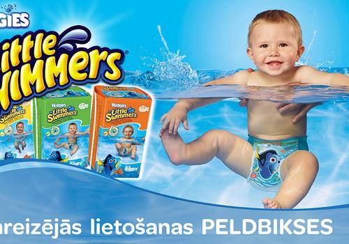 Ūdens prieki kopā ar vienreizējām peldbiksītēm - Huggies® Little Swimmers®!