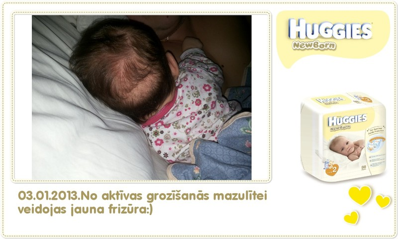 Katrīna aug kopā ar Huggies® Newborn: 67.dzīves diena