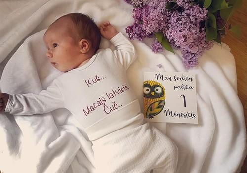 Laimīga mazuļa dienasgrāmata: Pirmais mēnesītis pagājis!