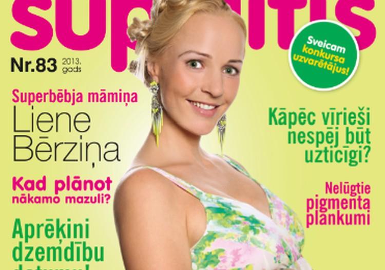 """Iznācis jaunākais žurnāla """"Šūpulītis"""" ar Superbēbīša māmiņu Lieni Bērziņu uz vāka"""