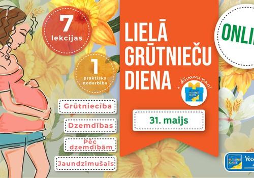 Pirmdien 7 lekcijas par 1 lekcijas cenu Lielajā Grūtnieču dienā + dāvanas visām!
