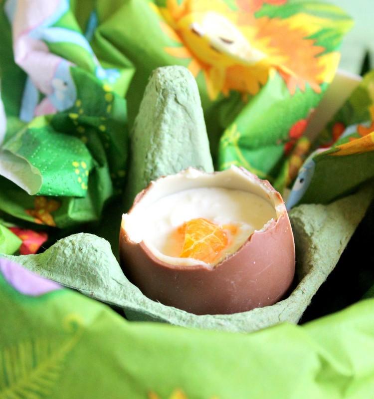 Šokolādes olas ar biezpiena krēma pildījumu