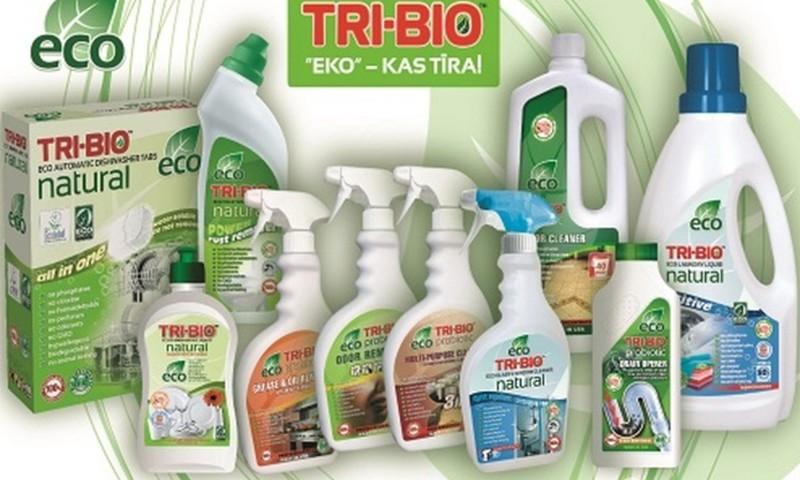 TRI-BIO ekoloģiskos tīrīšanas līdzekļus testēs..