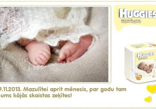Katrīna aug kopā ar Huggies® Newborn: 32.dzīves diena