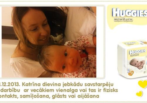 Katrīna aug kopā ar Huggies® Newborn: 54.dzīves diena