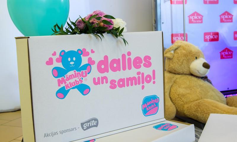Trūcīgu māmiņu jaundzimušo atbalstam saziedots vairāk kā 500 kg lietu