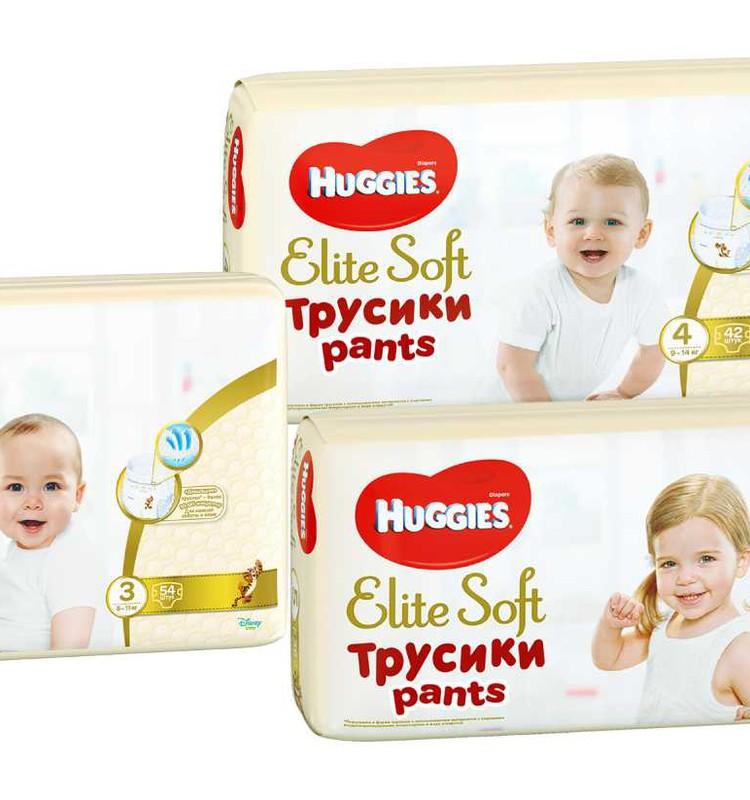 Huggies® Elite Soft Pants - mīkstas biksītes no elpojošiem materiāliem!