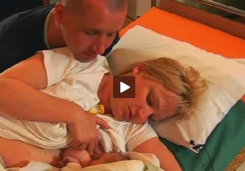 VIDEO: dzemdību kadri no Amandas dzemdībām